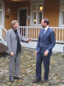 Atle Vårvik og Kronprins Haakon 29. april 2010